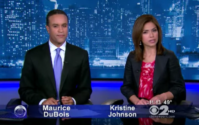 Maurice DuBois and Kristine Johnson, CBS New York